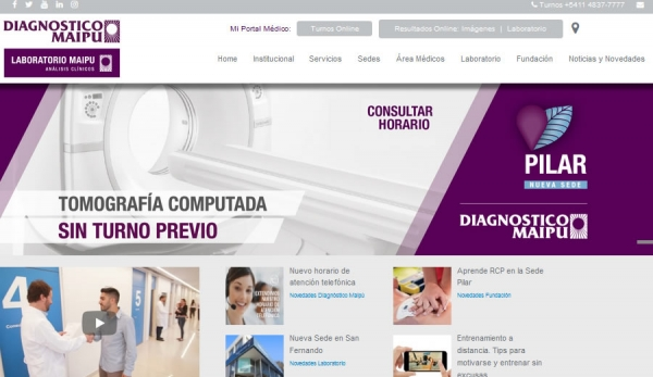 Rediseño web Diagnostico Maipú