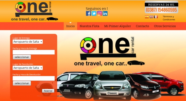 Diseño Web One Car Rental