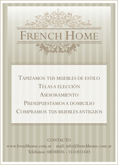 Diseño Flyer French Home
